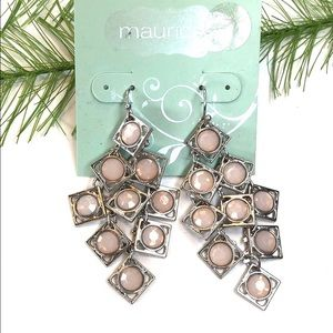🍭 Maurices dangle earrings, pink/silver tone